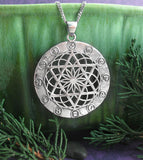 Large Grand Sextile or Star of David Merkaba Pendant with Astrological Signs Sterling Silver