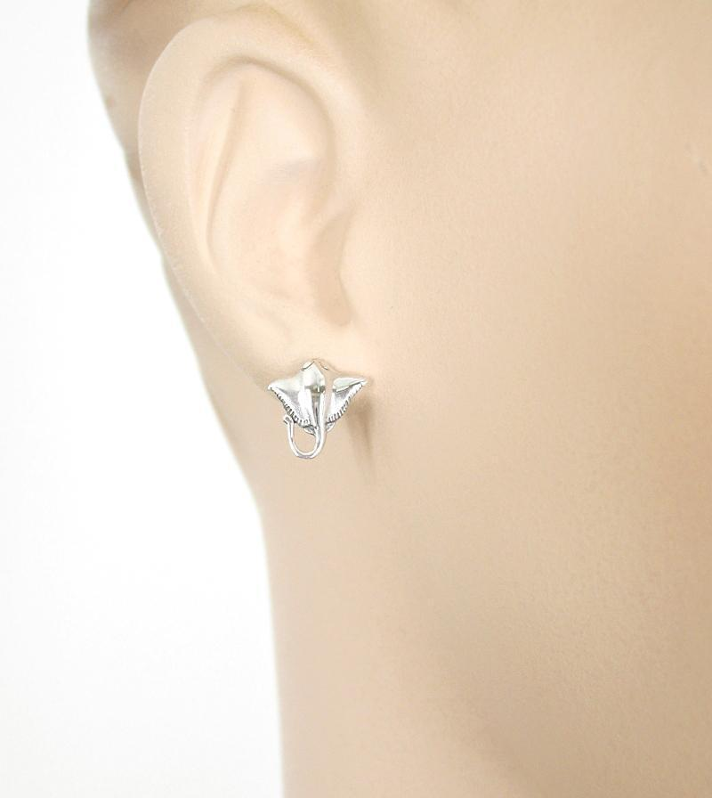 Little Stingray Earrings With Curling Tail - woot & hammy