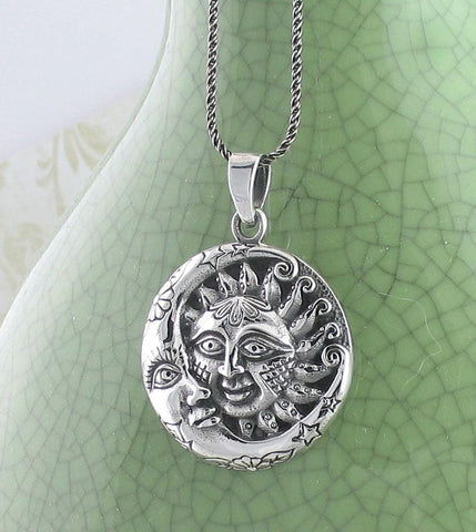 Ornate Sun and Moon Necklace - woot & hammy