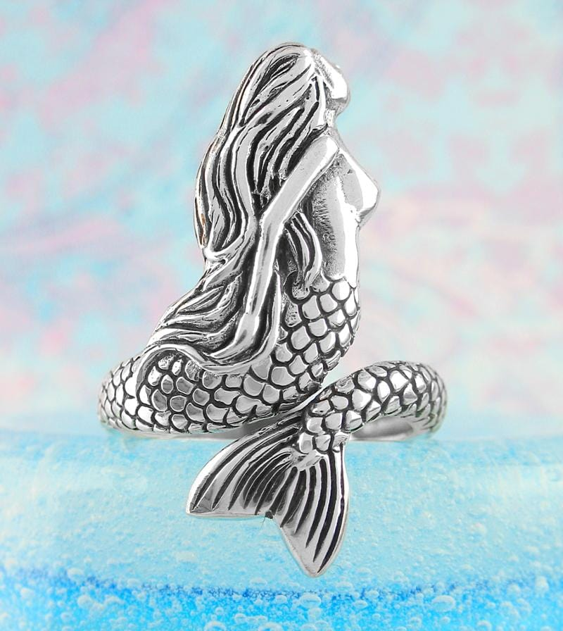 Enchanting Swimming Mermaid Adjustable Ring | woot & hammy thoughtful jewelry