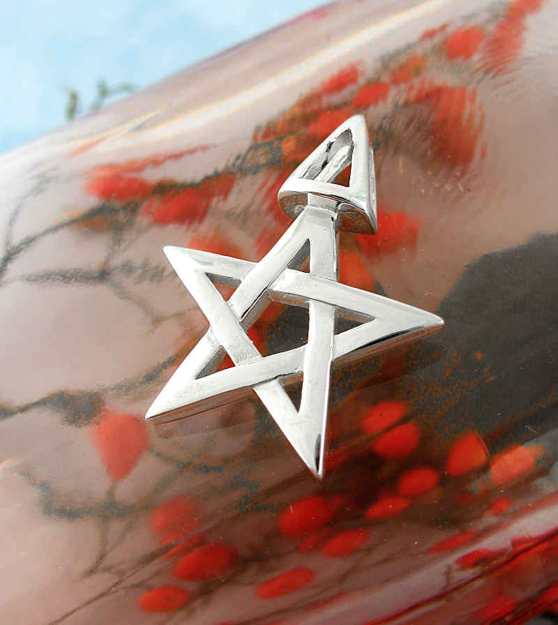 Third Degree Wicca Pentacle and Triangle Pendant | Woot & Hammy