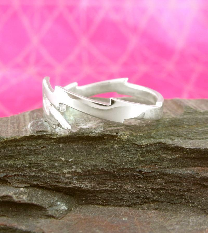 Lightning Bolt Thunderbolt Adjustable Ring | woot & hammy thoughtful jewelry