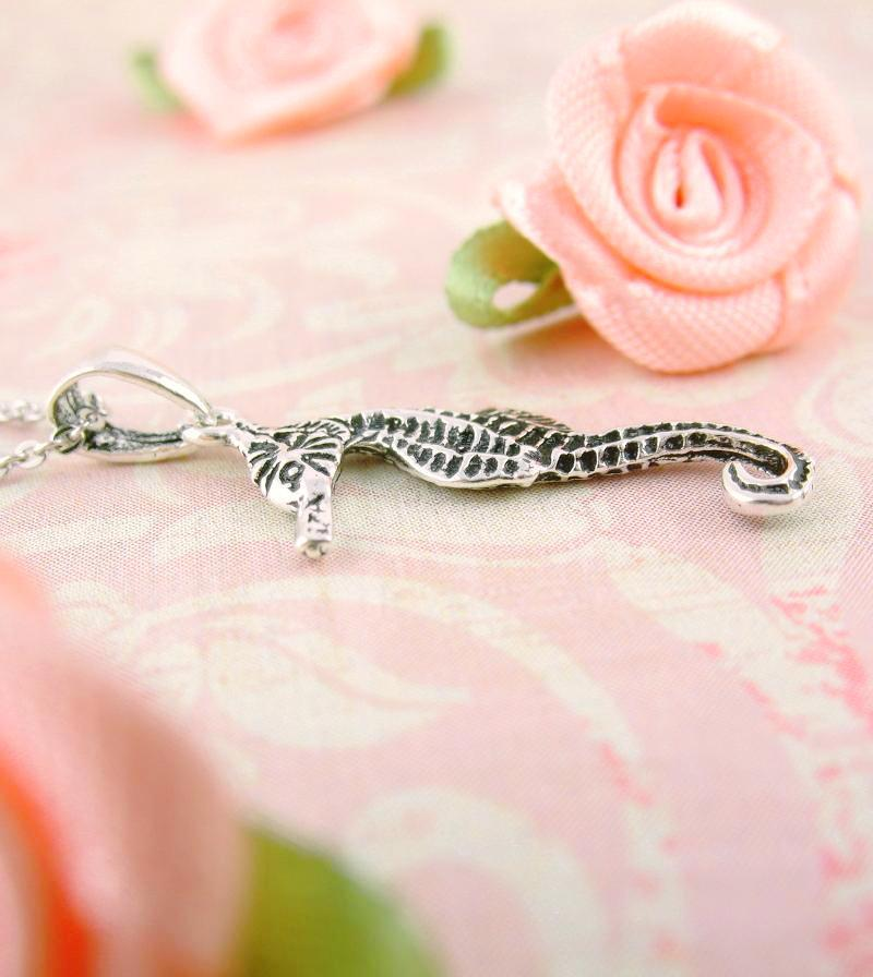 Tiny Spiny Seahorse Necklace with Antique Finish | woot & hammy thoughtful jewelry