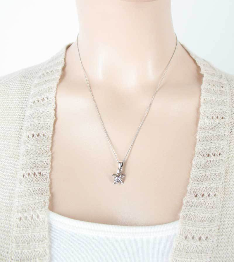 Tiny Turtle Necklace with Movable Legs & Head Sterling Silver