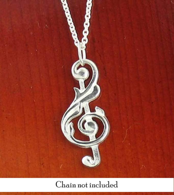 Baroque-Inspired Treble Clef Necklace - woot & hammy