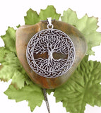Large Wiccan Pagan Celtic Tree of Life Necklace