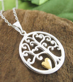 Little Gold Heart Tree of Life Necklace - woot & hammy