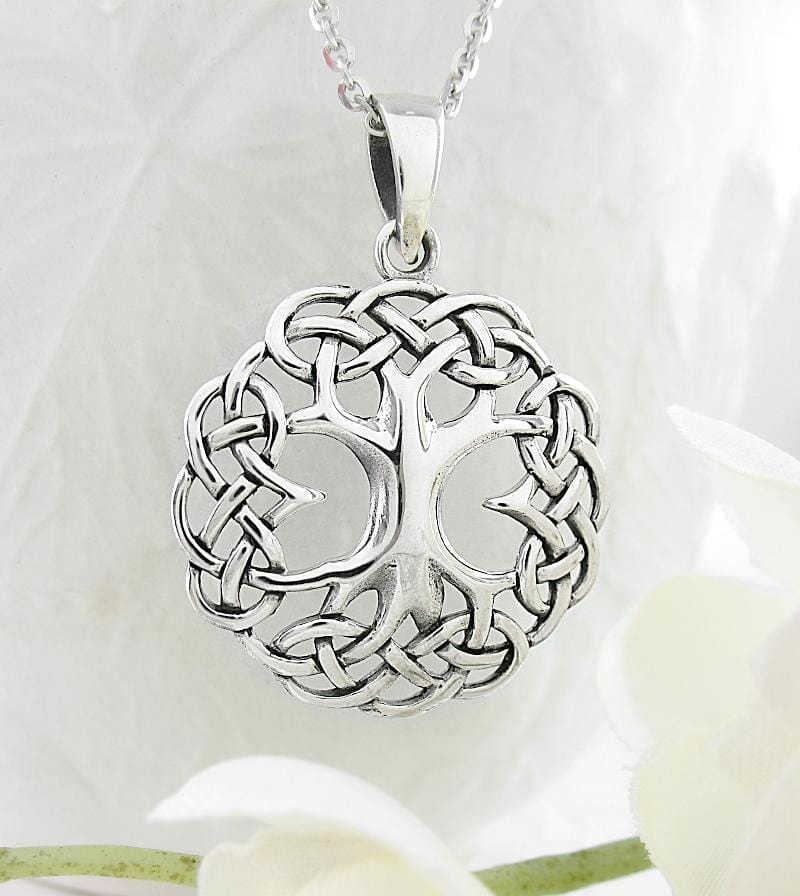 Tree of Life Necklace with Celtic Knot Border - woot & hammy