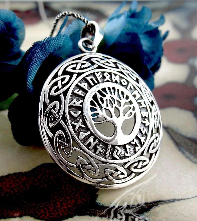 Tree of Life Necklace With Runes and Celtic Knots - woot & hammy