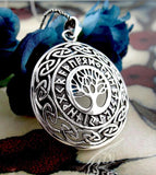 Tree of Life Pendant With Runes and Celtic Knots