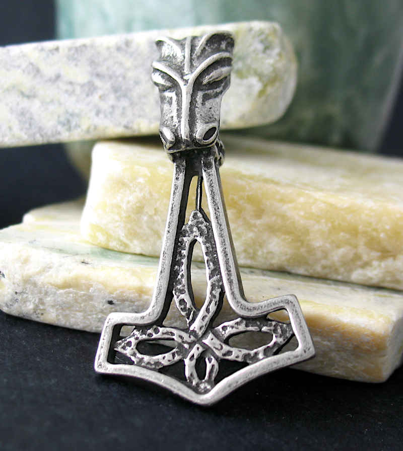 Thor's Mjolnir With Fenrir and Celtic Quaternary Pendant | woot & hammy