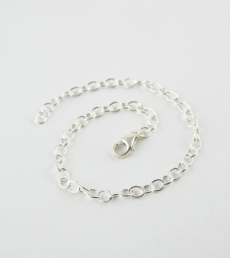 Unplated Sterling Silver Extender Chains w/ Lobster Claw Clasp