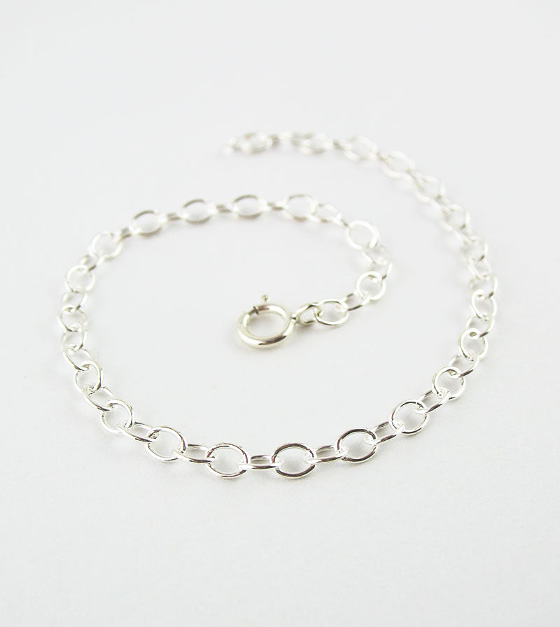 Unplated Sterling Silver Extender Chains