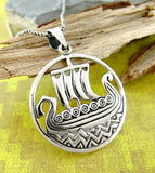 Legendary Viking Long Ship Necklace | woot & hammy thoughtful jewelry