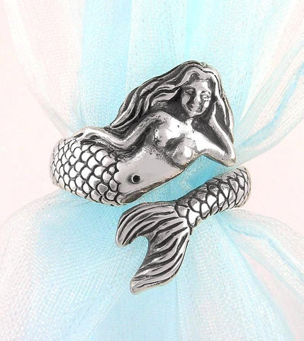 Voluptuous Mythical Mermaid Adjustable Wrap Ring | woot & hammy thoughtful jewelry