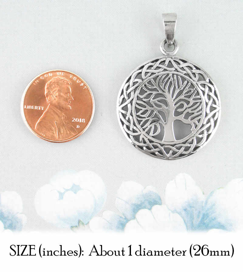 Celtic Tree of Life Medallion Pendant