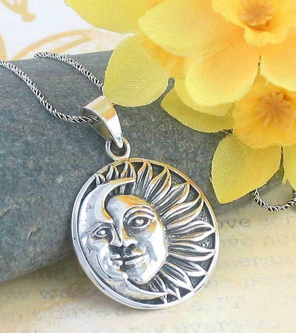 Tranquil Sun and Moon Necklace - woot & hammy
