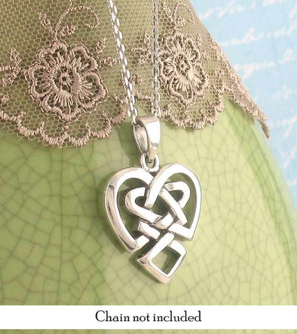 Celtic knot heart necklace in sterling silver free shipping in usa celtic knot heart necklace in sterling silver aloadofball
