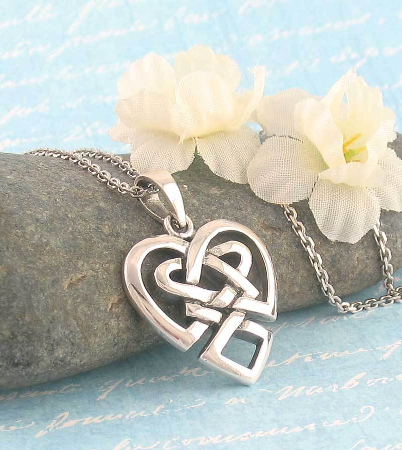 Celtic Knot Heart Necklace - woot & hammy