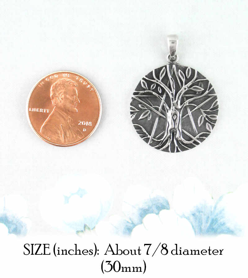 Antiqued Tree of Life Pentacle Pendant