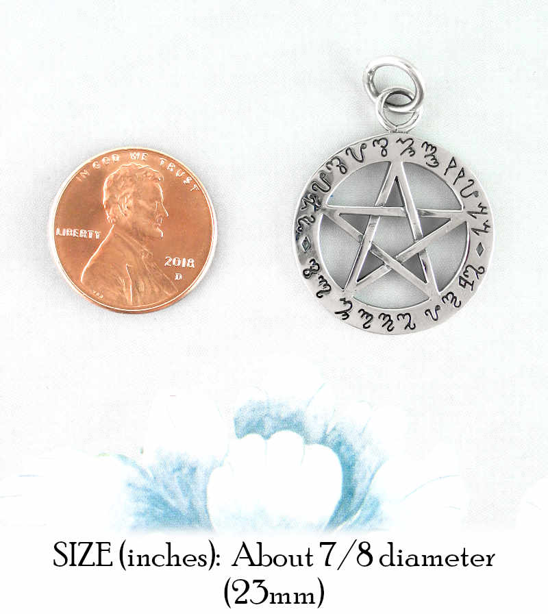 So Mote It Be Theban Pentacle Pendant