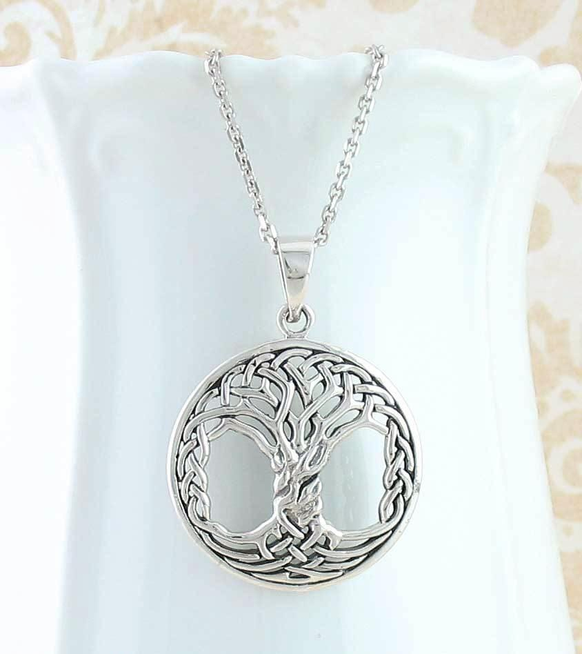 Intricate Celtic Knot Tree of Life Necklace - woot & hammy