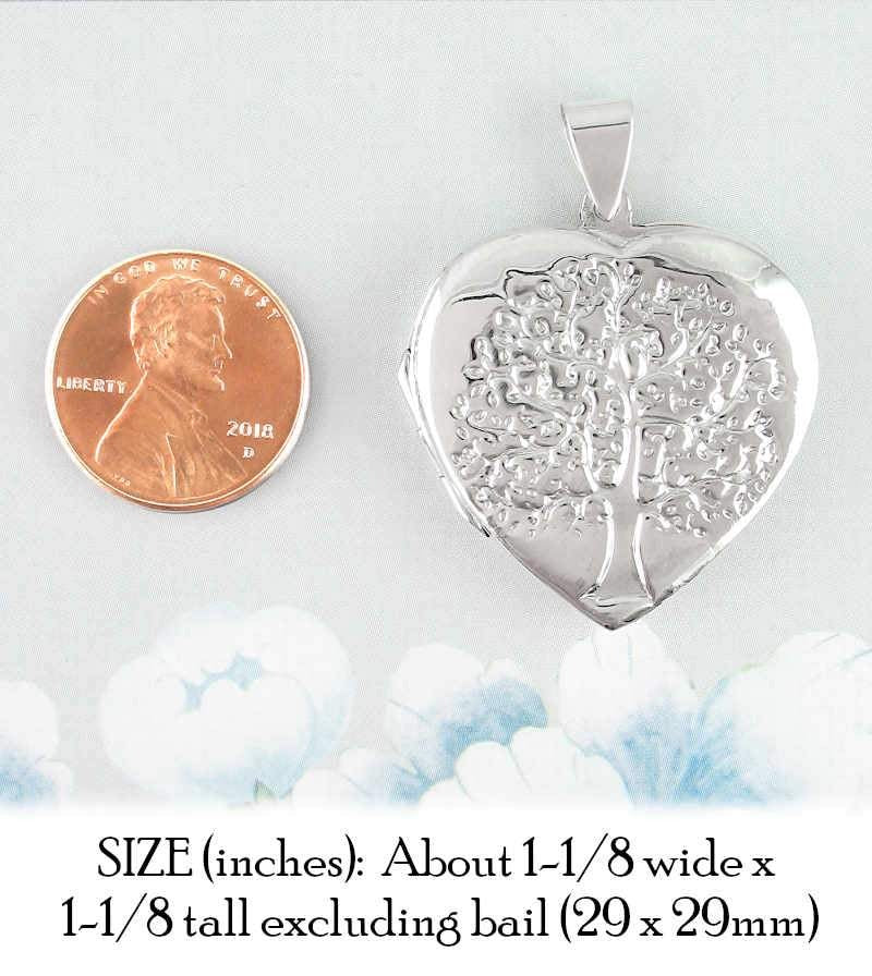 Heart-Shaped Tree of Life Locket Pendant