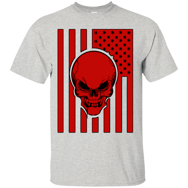 US Flag and Skull