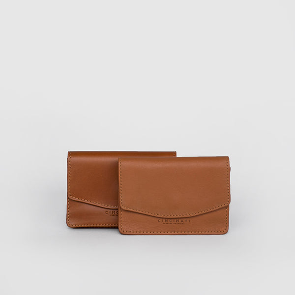 Leather Business Card Holder (Light Brown)