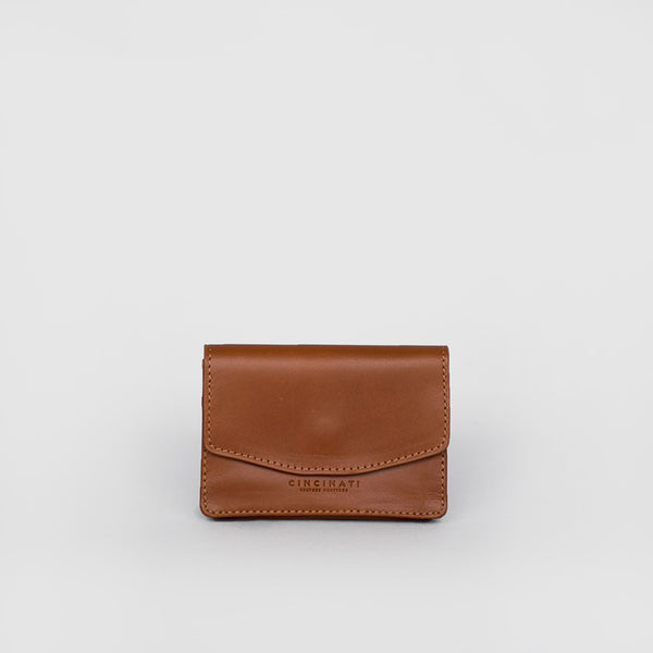 Leather Business Card Holder (Brown)