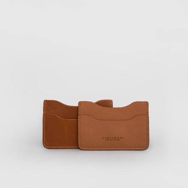 Leather Card Holder (Light Brown)
