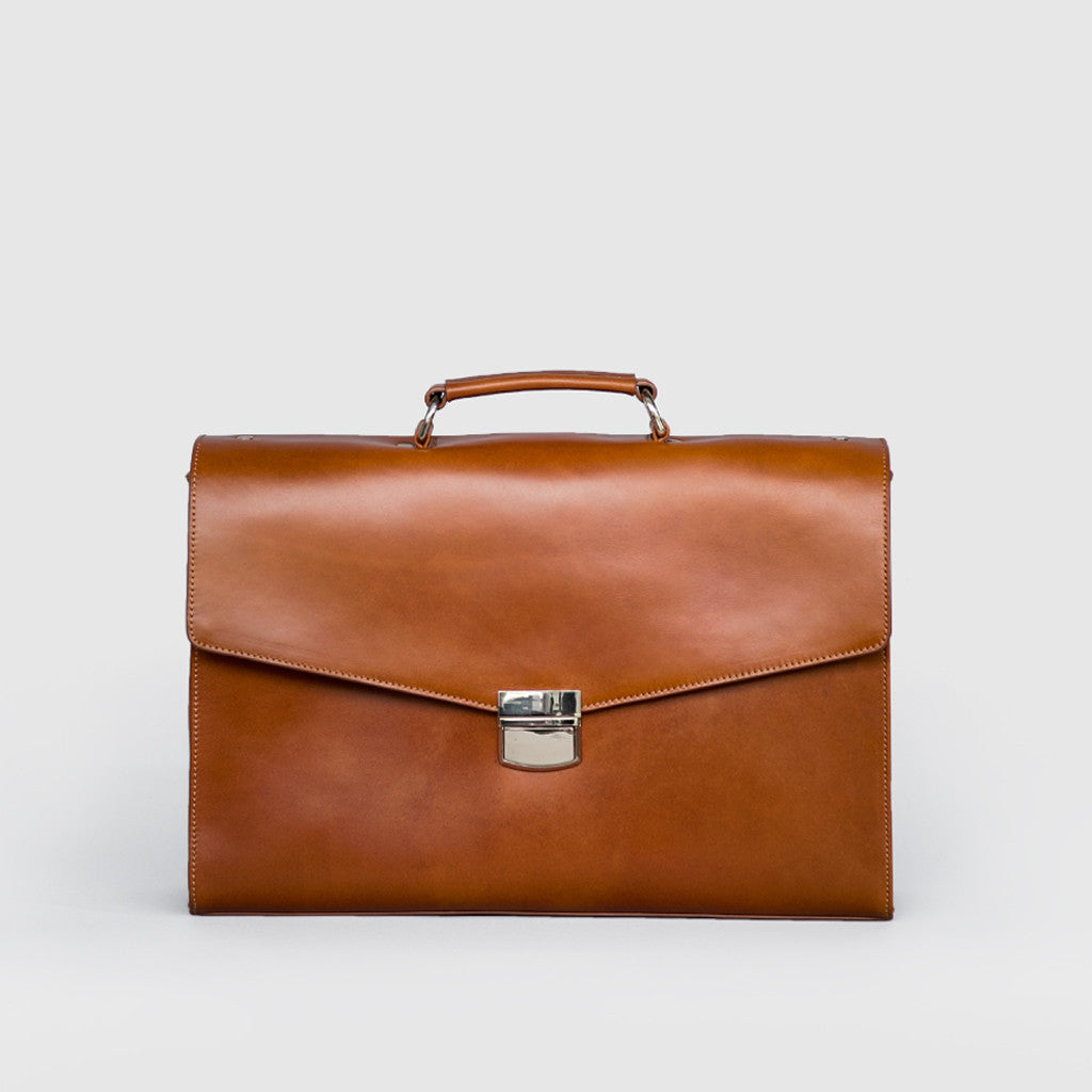 Leather Briefcase (Brown)