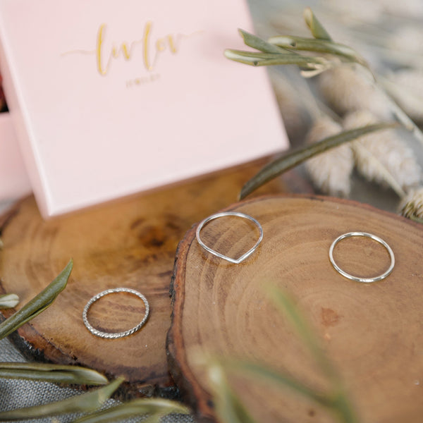 Live Love Ring Set (Rose Gold)