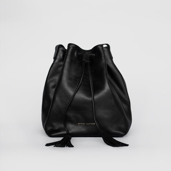Tassel Bucket Bag (Black)
