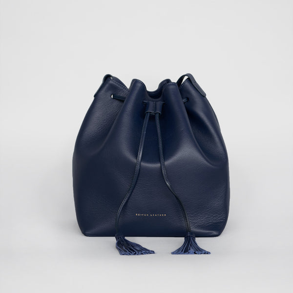 Tassel Bucket Bag (NAVY)