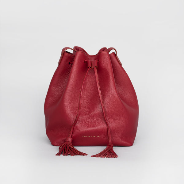Tassel Bucket Bag (Red)
