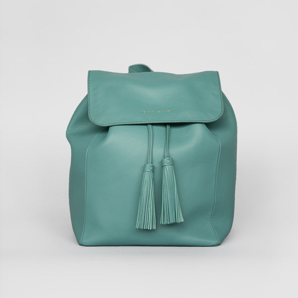 Tassel Drawstring Backpack (Turquoise)