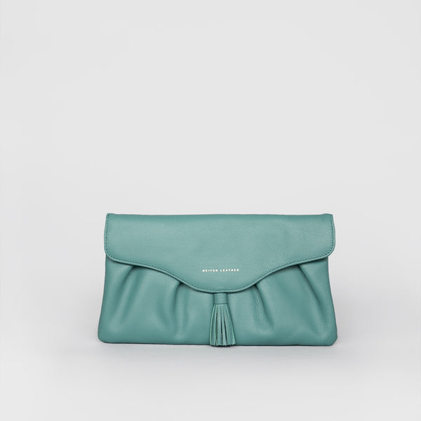 Tassel Clutch (Turquoise)