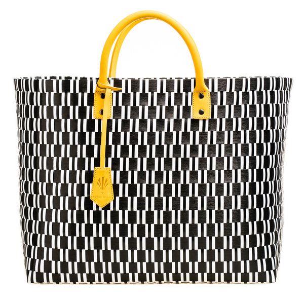 Signature Large Tote Yellow Leather