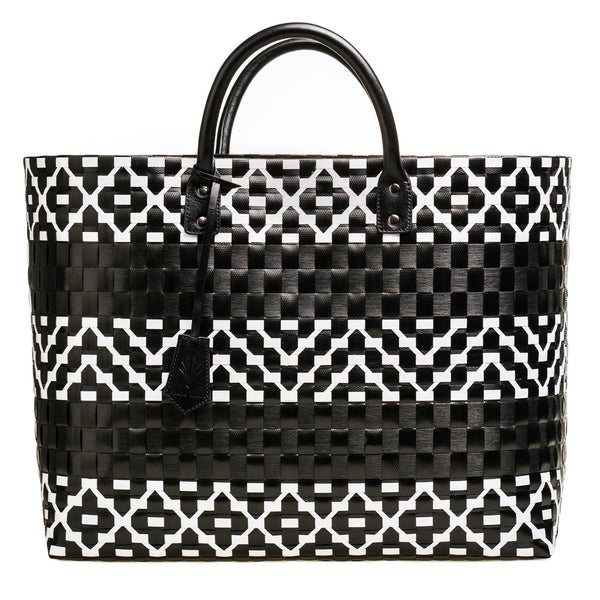 Marrakesh Large Tote Black Leather