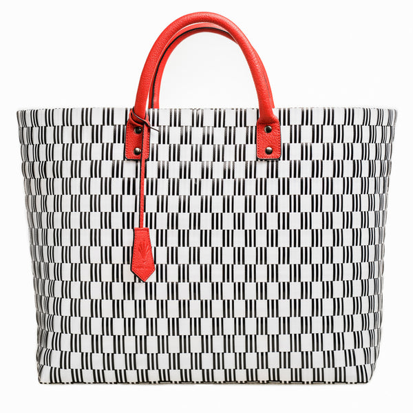 Parisian Large Tote Red Leather