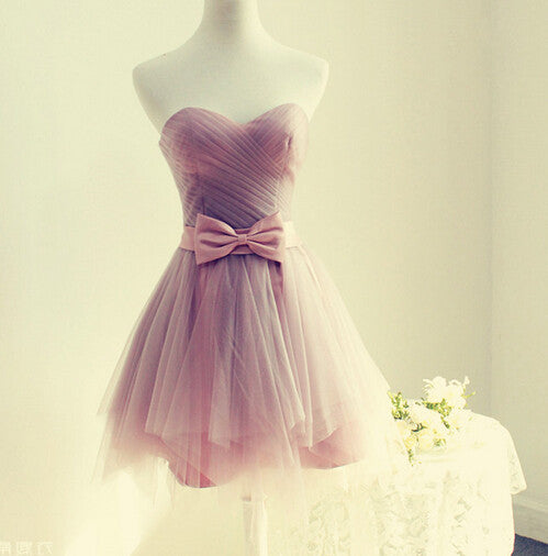 Lovely Chiffon Homecoming Dresses,Homecoming Dress With Bowknot