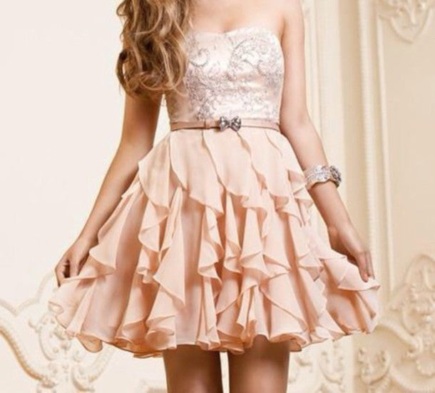 Pearl Beading Pink Homecoming Dress, A-line Scopp Neckline Homecoming Dresses