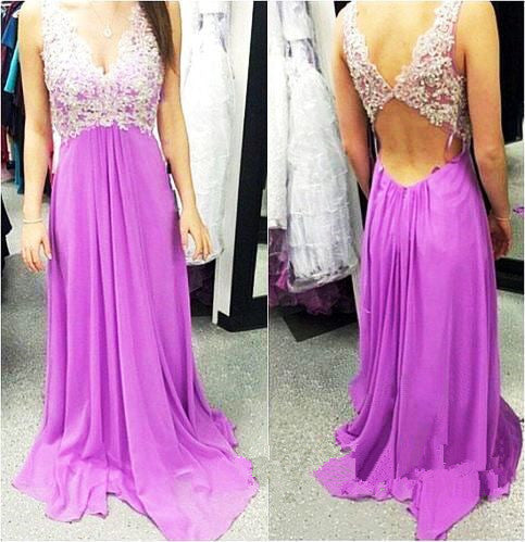 A-Line Purple Prom Dress,Strapless Prom Dresses,Evening Dresses