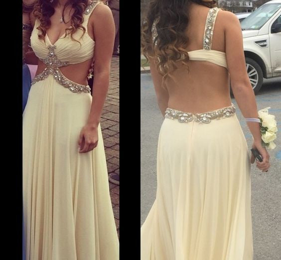 Open Back Prom Dresses,A-Line Prom Dress,Evening Dresses