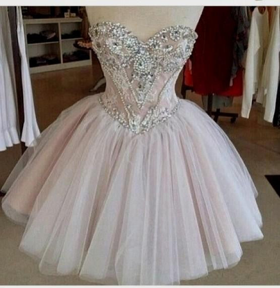 Beading Homecoming Dress,Sweetheart Homecoming Dress,Homecoming Dress 2016