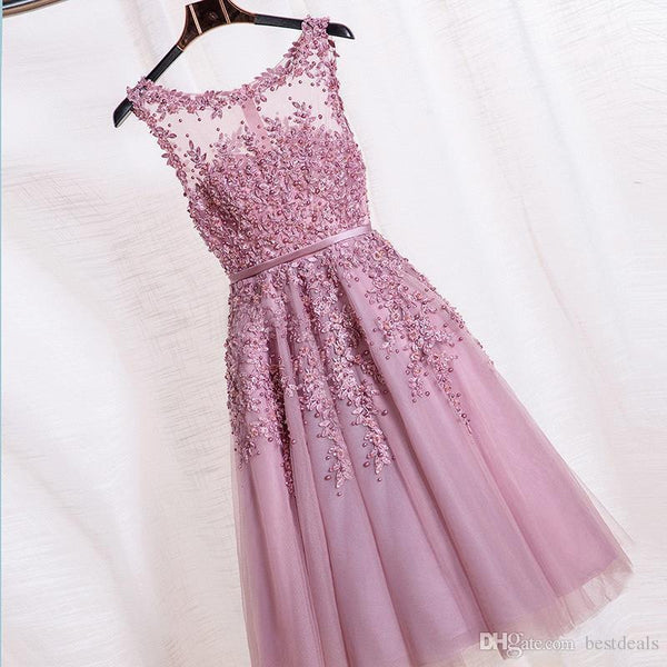 Beautiful Lace Homecoming Dress,Tulle Homecoming Dresses