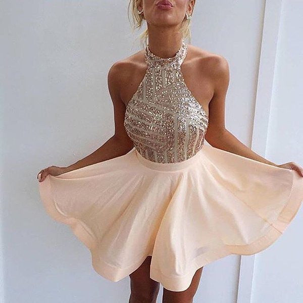 2017 Sequins Short Homecoming Dresses Top Sexy Cocktail Dresses