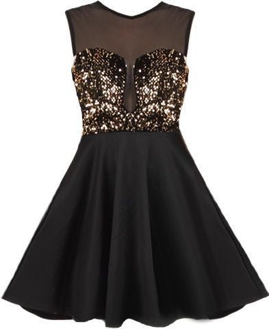 Sequins Black Homecoming Dress, Sexy Prom Homecoming Dress