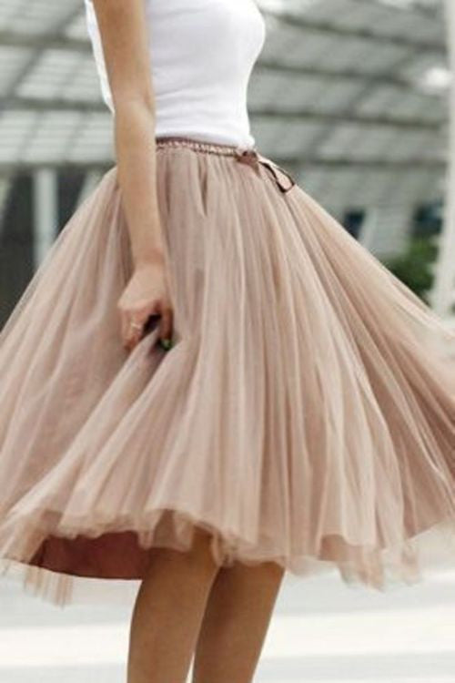 Tulle Skirt,Charming Women Skirt,Spring Autumn Skirt,A-Line Skirt